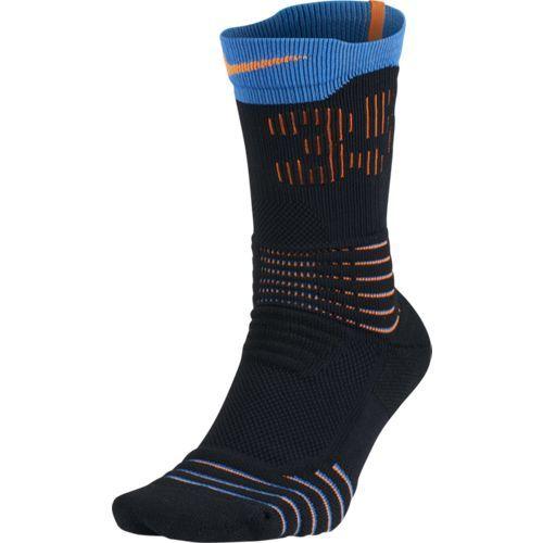 62b71b1d423 Nike Elite KD Versatility Basketball Crew Socks Blk Photo Blue - SX5375-013
