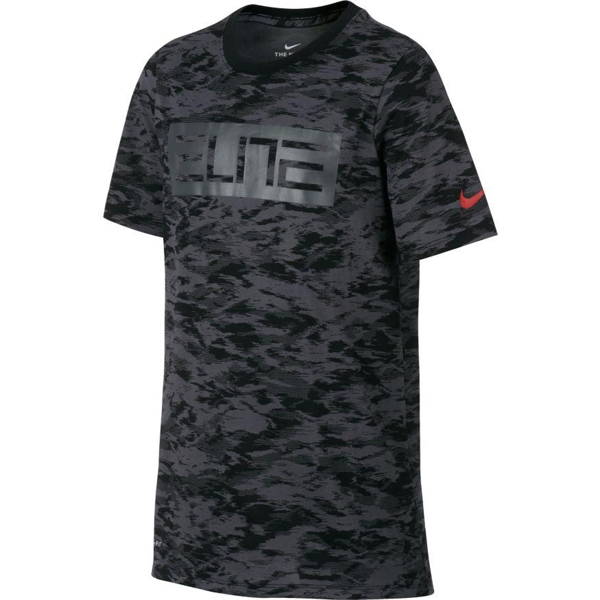 5fd77ef7f Nike Dry Elite Basketball T-Shirt Kids Camo Blk 862630-010