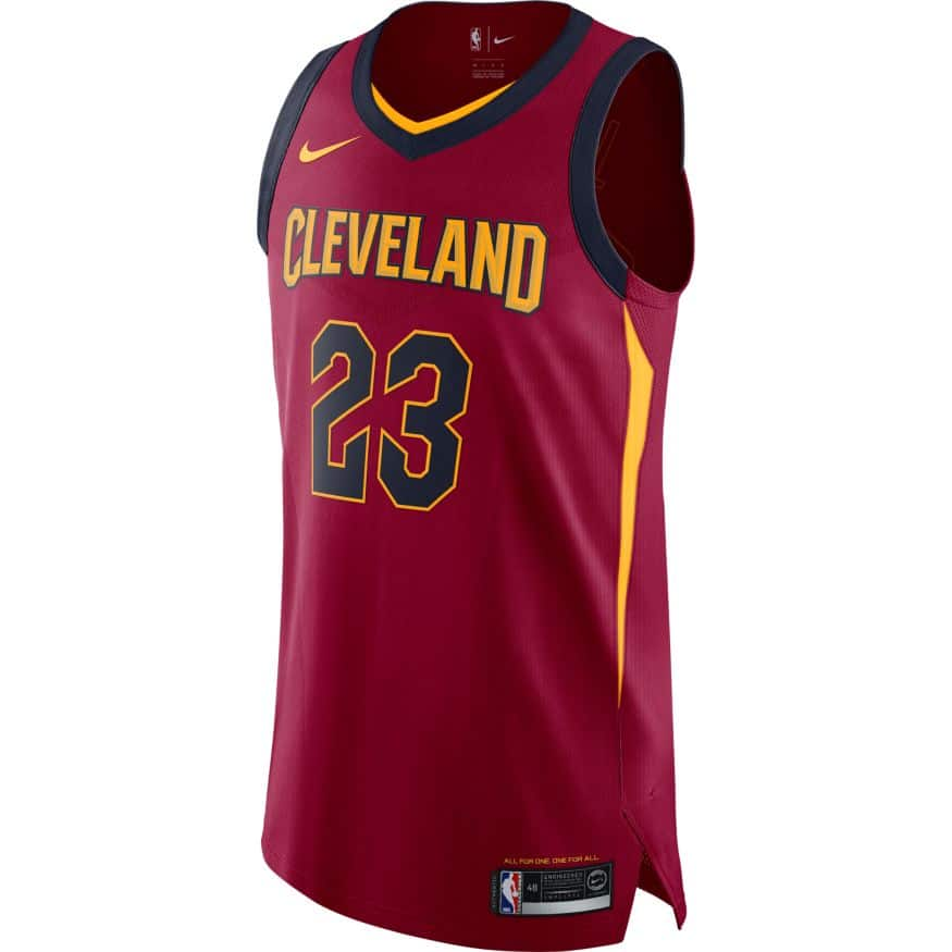 Lebron James Cleveland Cavaliers Nike Authentic Jersey 863018-677 ad5052190