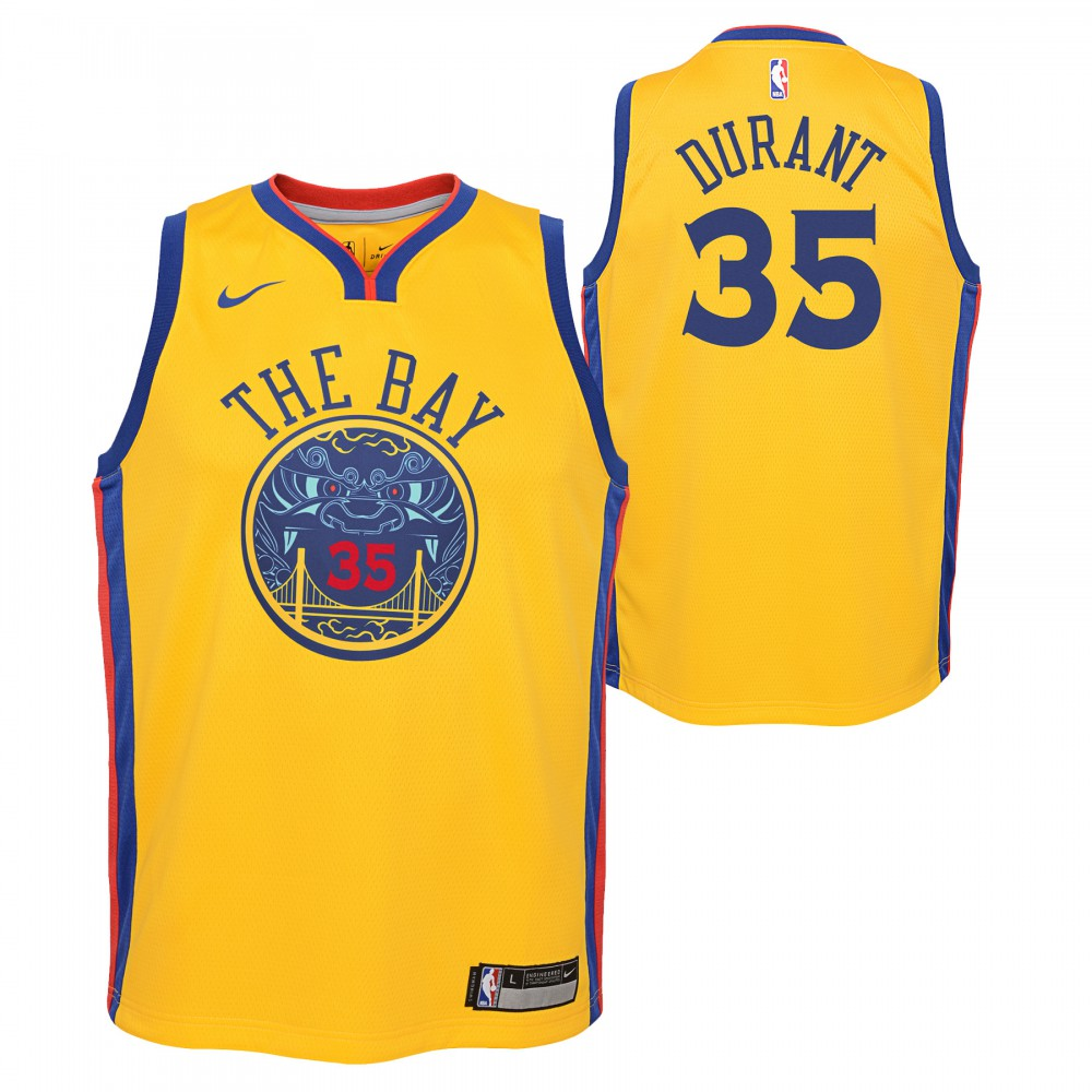 c93e54fdb5a19 Kevin Durant Maillot Icon Edition GSW Warriors KIDS