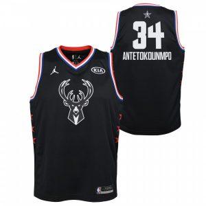 456fb9ecab2d5 Black All-Star Edition 2019 Swingman Giannis Antetokounmpo Kids