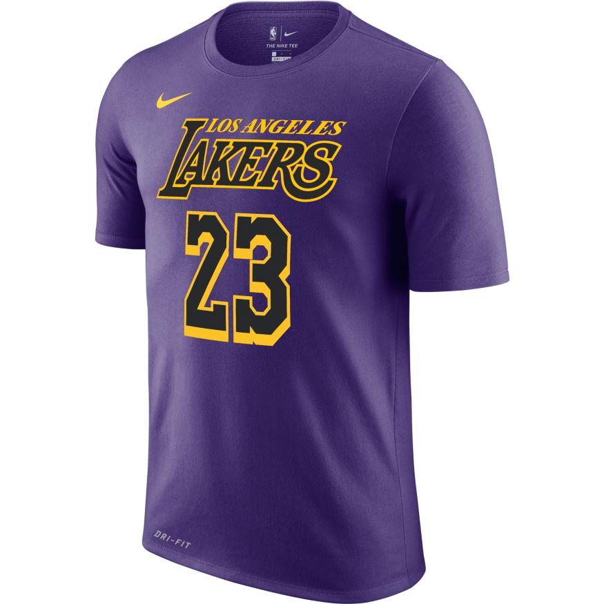 840c05c9c Lebron James Los Angeles Lakers Nike Dry AO0895-551   BaskeTTemple